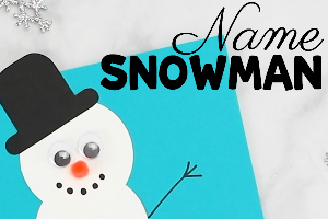 name snowman craft picture