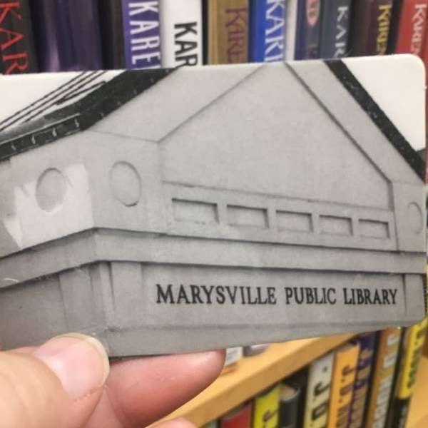 marysville public library card